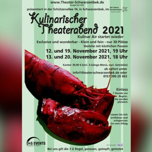 Theater Schwarzenbek - Kulinarischer Theaterabend 2021